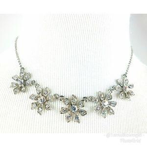 Nina Swarovski crystal statement necklace NWT